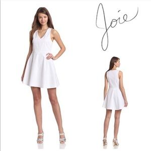 Joie White Dress Norton Fit and Flare Size XS